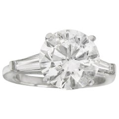 GIA Certified 9.01 Carat F SI1 Engagement Ring