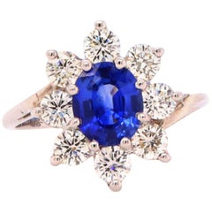1.12 Carat Sapphire and Diamond Ring