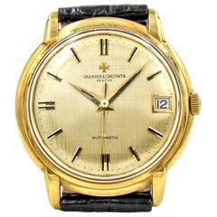 Vacheron Constantin 18 Karat Yellow Gold Men's Wrist Watch with Textured Dial