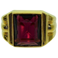 Gent's Solid Gold Art Deco N.O.S. Ring, 1940s