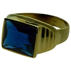 Gent's Art Deco Solid Gold Ring