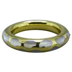 "Tiffany & Co. ""Positive-Negative"" Yellow Gold Bangle Bracelet"