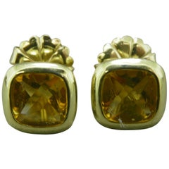 Citrine Yellow Gold Earrings