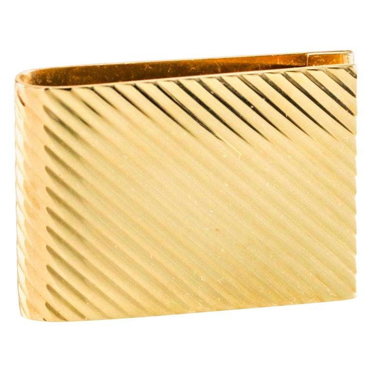 Tiffany & Co. 14 Karat Yellow Gold Money Clip For Sale