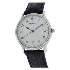 Authentic Men's Tourneau Classic a Steel Automatic Date Watch