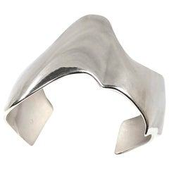 Tiffany & Co. Frank Gehry Sterling Eccentric Cuff Bracelet