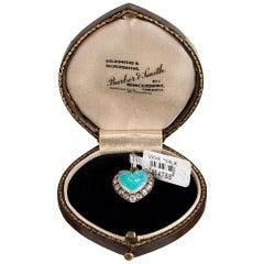 Edwardian Opal and Diamond Heart Locket Pendant