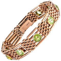 Victorian Rose Gold Peridot Bracelet
