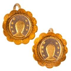 Petite Victorian Horseshoe Motif Earrings