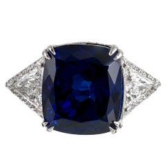 26.96 Carat Tanzanite and Diamond Ring