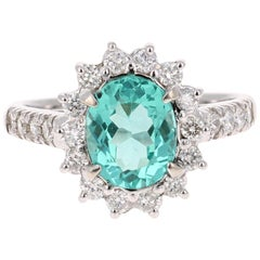 2.81 Carat Apatite Diamond White Gold Engagement Ring