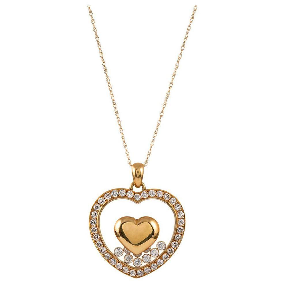 "Chopard ""Happy Diamond"" Heart Pendant"
