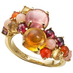 Daria de Koning Citrine and Pink Tourmaline Stacking Ring
