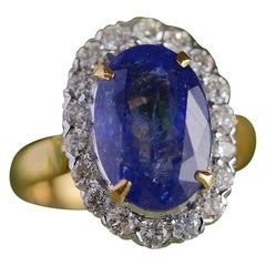 Emma Chapman 10.10ct Tanzanite Diamond 18 Karat Gold Cocktail Ring