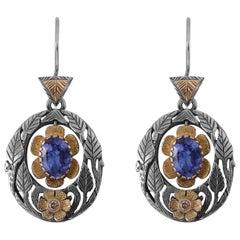 Emma Chapman Tanzanite Diamond Earrings