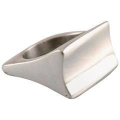 Swedish Modernist Silver Ring, 1960s