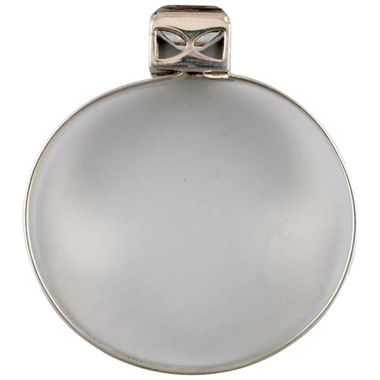Åke Lindström Modernist Bracelet in Sterling Silver with Mountain Crystal For Sale