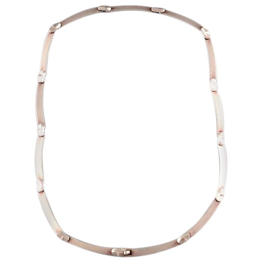 "Björn Weckström, Lapponia, Finland, ""Labyrint"" Vintage Modernist Necklace"