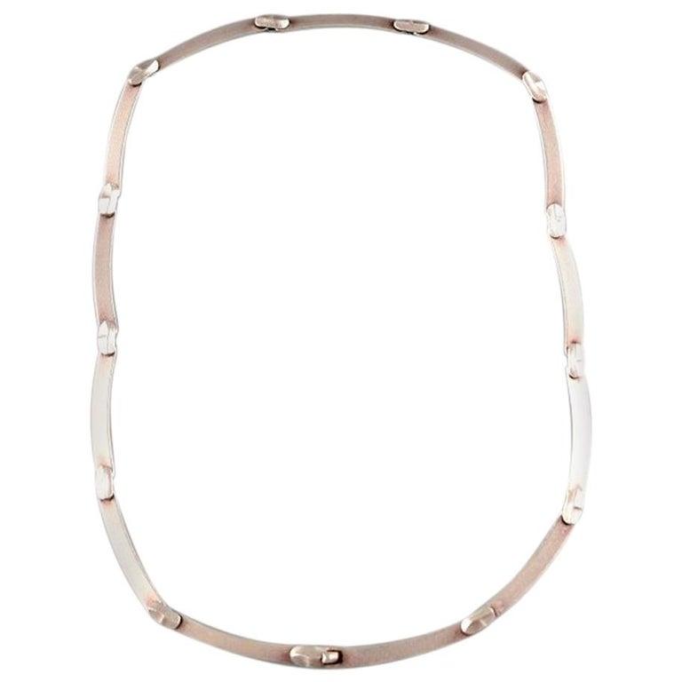 "Björn Weckström, Lapponia, Finland, ""Labyrint"" Vintage Modernist Necklace For Sale"