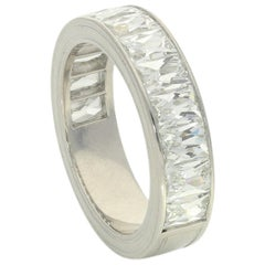 Hancocks Half Eternity Ring Channel-Set with French-Cut 3.67 Carat Diamonds