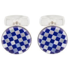 Jona Lapis Lazuli Mother of Pearl Sterling Silver Cufflinks