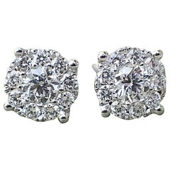 18k White Gold Stud Earrings with 0.72 carats of Diamond