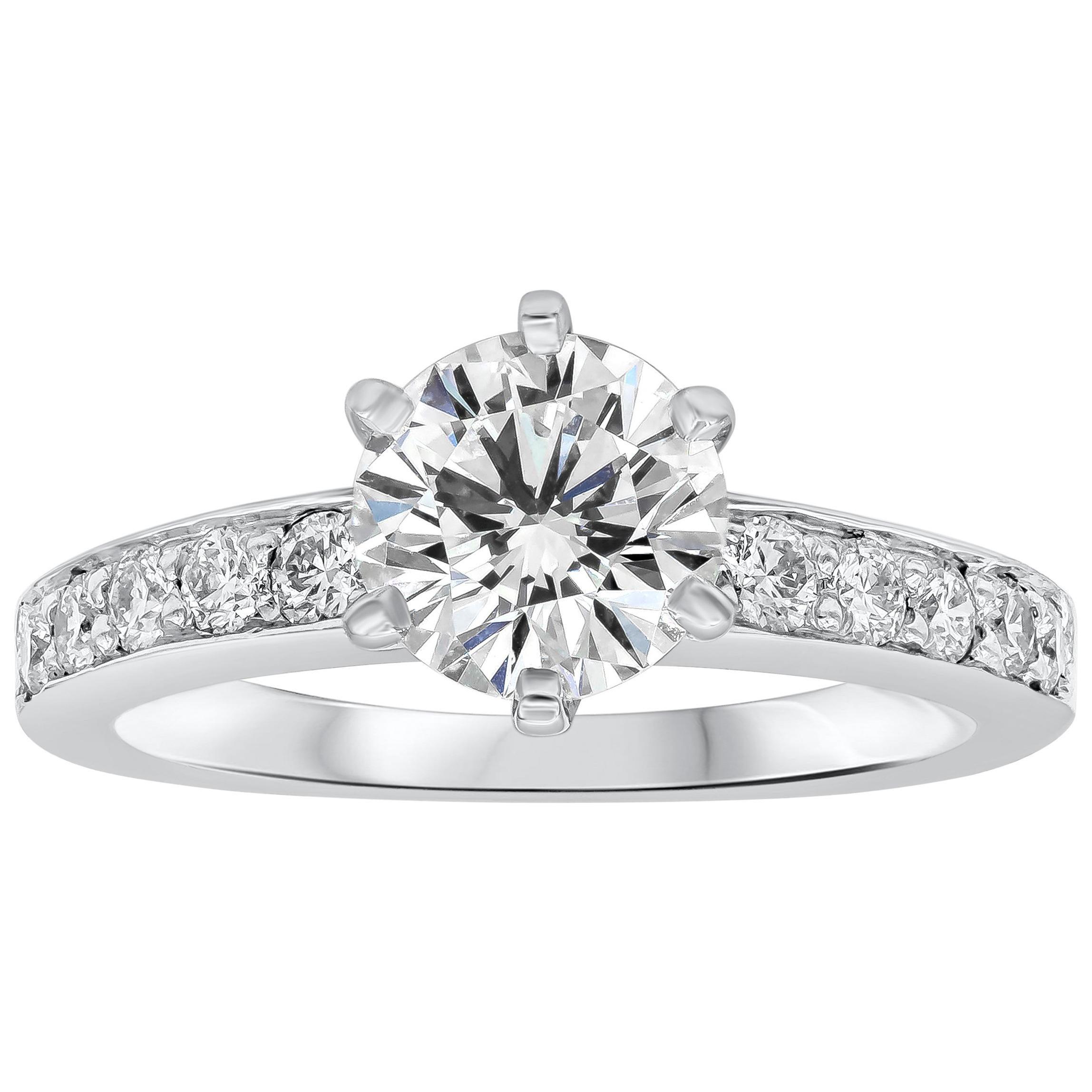 Tiffany & Co. 1.01 Carat Round Diamond Platinum Engagement Solitaire Ring
