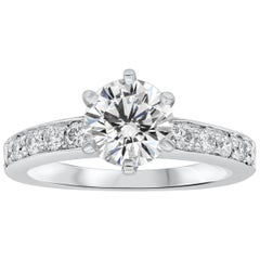Tiffany & Co. 1.01 Carat Round Diamond Platinum Engagement Solitaire Ring