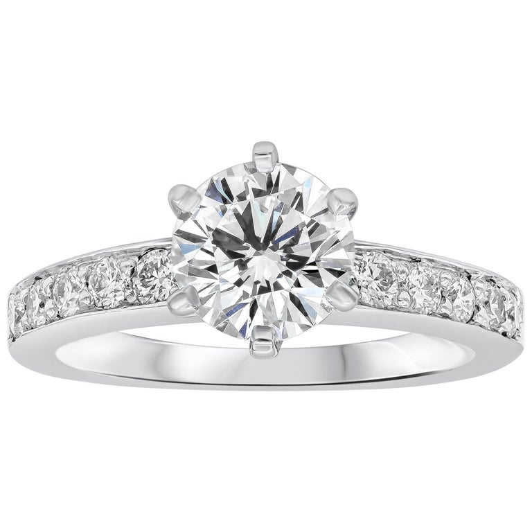 Tiffany & Co. 1.01 Carat Round Diamond Platinum Engagement Solitaire Ring For Sale