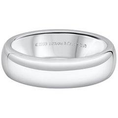 Tiffany & Co. Classic Platinum Men's Wedding Band