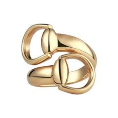 Gucci Horsebit 18 Karat Yellow Gold Ring