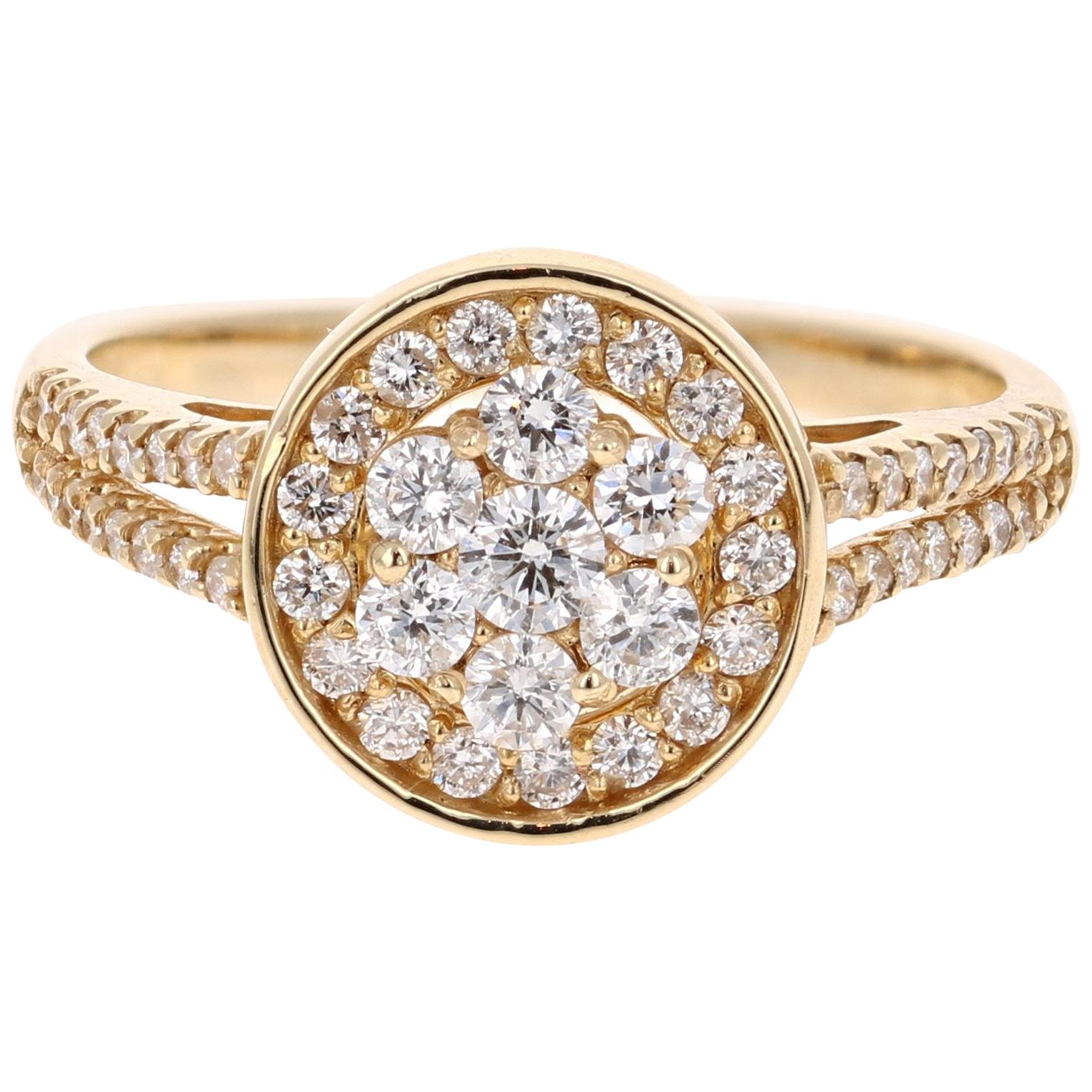 0.68 Carat Diamond 14 Karat Yellow Gold Ring