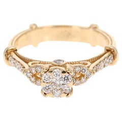 0.50 Carat Diamond 14 Karat Yellow Gold Ring