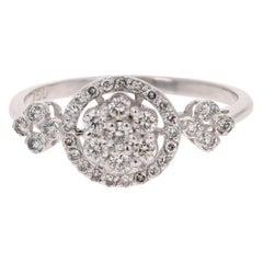 0.43 Carat Diamond 18 Karat White Gold Ring