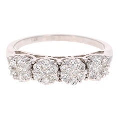 0.53 Carat Diamond 14 Karat White Gold Ring