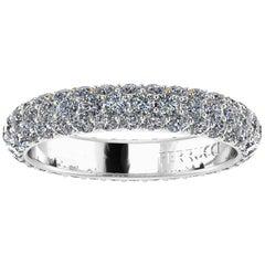 2.00 Carat White Diamond Pavé Ring in 18 Karat White Gold