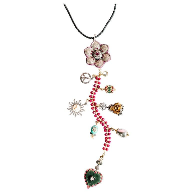 Clarissa Bronfman Signature 'Reine Du Soleil' Symbol Tree Necklace 1