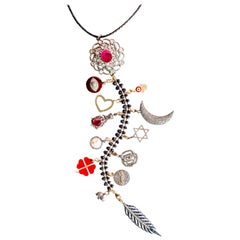 Clarissa Bronfman Signature 'Scarlet II' Symbol Tree Necklace