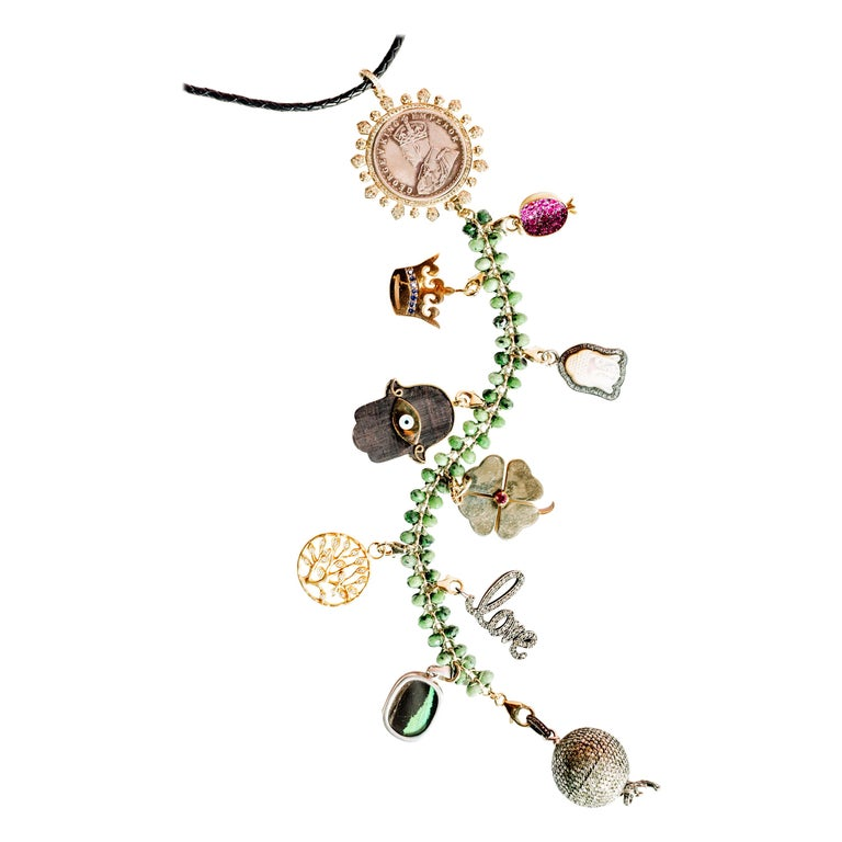 Clarissa Bronfman Signatur Symbol Baum Halskette 1