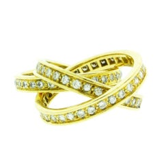 Cartier Women's VS - G Diamond Trinity Ring in 18 Karat Yellow Gold