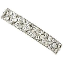 1920s Antique French Import 15.80 Carat Diamond and Platinum Bracelet