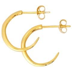 Rustikale Reifen Ohrringe in 18 Karat Gelbgold von Allison Bryan