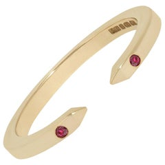 Open Ring in Yellow Gold with Rubies by Allison Bryan