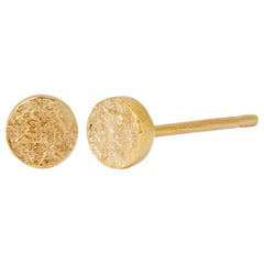 Textured Gold Stud Earrings by Allison Bryan