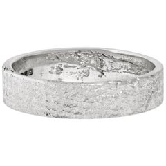 Men's Textured Silver Ring by Allison Bryan