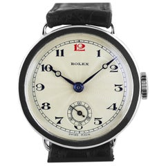 Rolex Silver Officers Trench Watch 1926