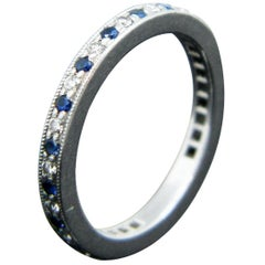 Tiffany & Co. Eternity Diamond Sapphire Legacy Band Ring