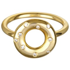 Faye Kim 18 Karat Goldgold Lebensretter Diamantring