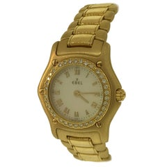 Ebel 1911 Yellow Gold and Diamond Bracelet Mother of Pearl Ladies Watch 890910