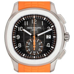Patek Philippe Unworn Aquanaut Steel Black Dial 5968A-001 Automatic Wristwatch